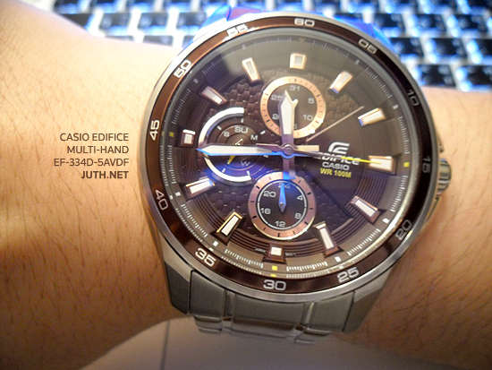 Casio Edifice Multi-Hand รุ่น EF-334D-5AVDF