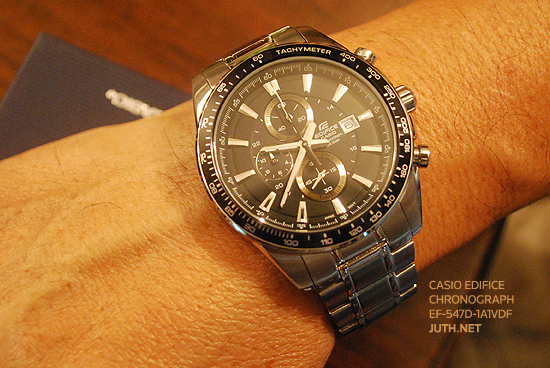Casio Edifice Chronograph รุ่น EF-547D-1A1VDF